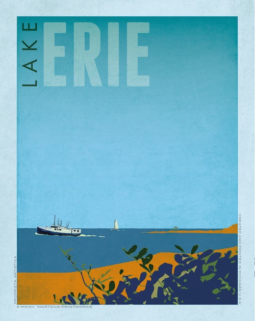 Image of Lake Erie Bay Print No. [045]