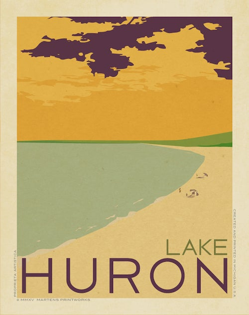 Image of Lake Huron Beach 11x14 Print No. [046]