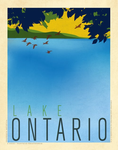 Image of Lake Ontario Bluff 11x14 Print No. [048]
