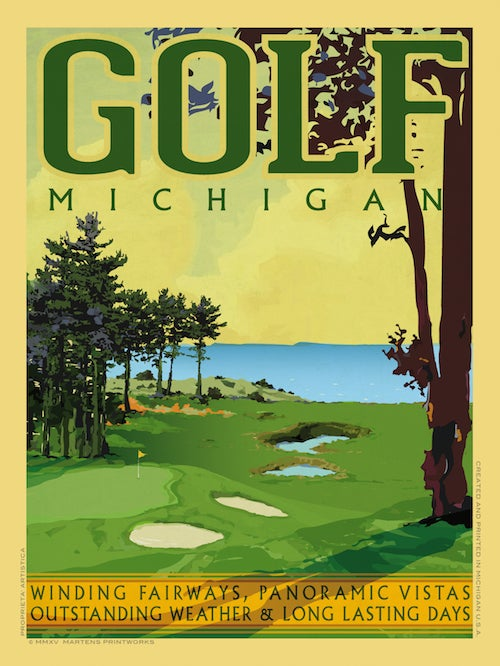 Image of Golf Michigan 18x24 Print No. [050]