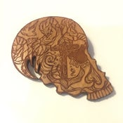 Image of Day of the Dead Illustrated Laser Engraved Anchor Sugar Skull