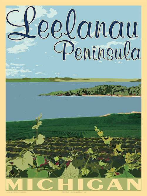 Image of Leelanau Peninsula 18x24 Print No. [029]