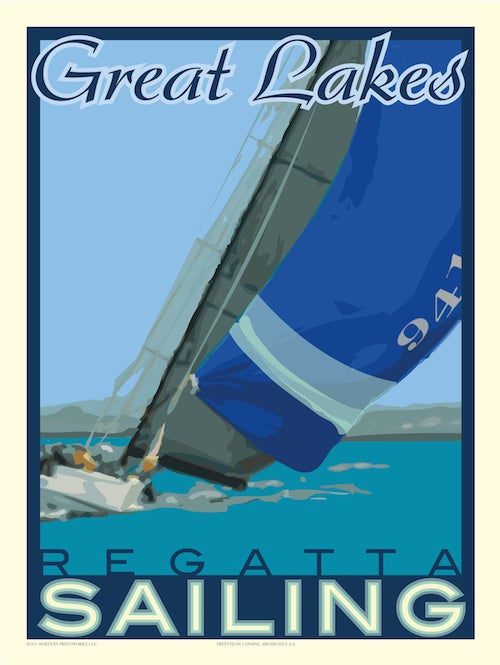 Image of Great Lakes Regatta 18x24 Print No. [021]