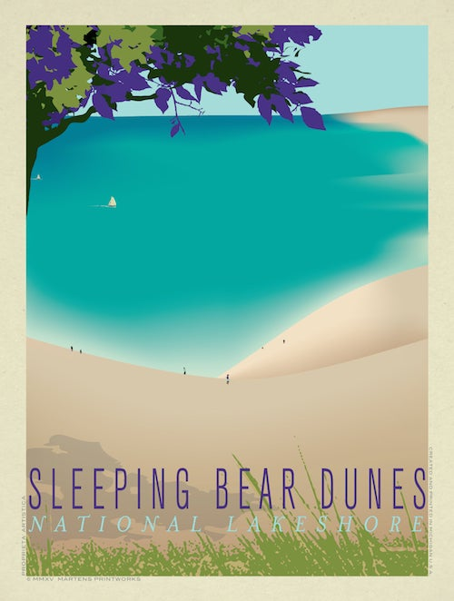Image of Sleeping Bear Dunes Print No. [040]