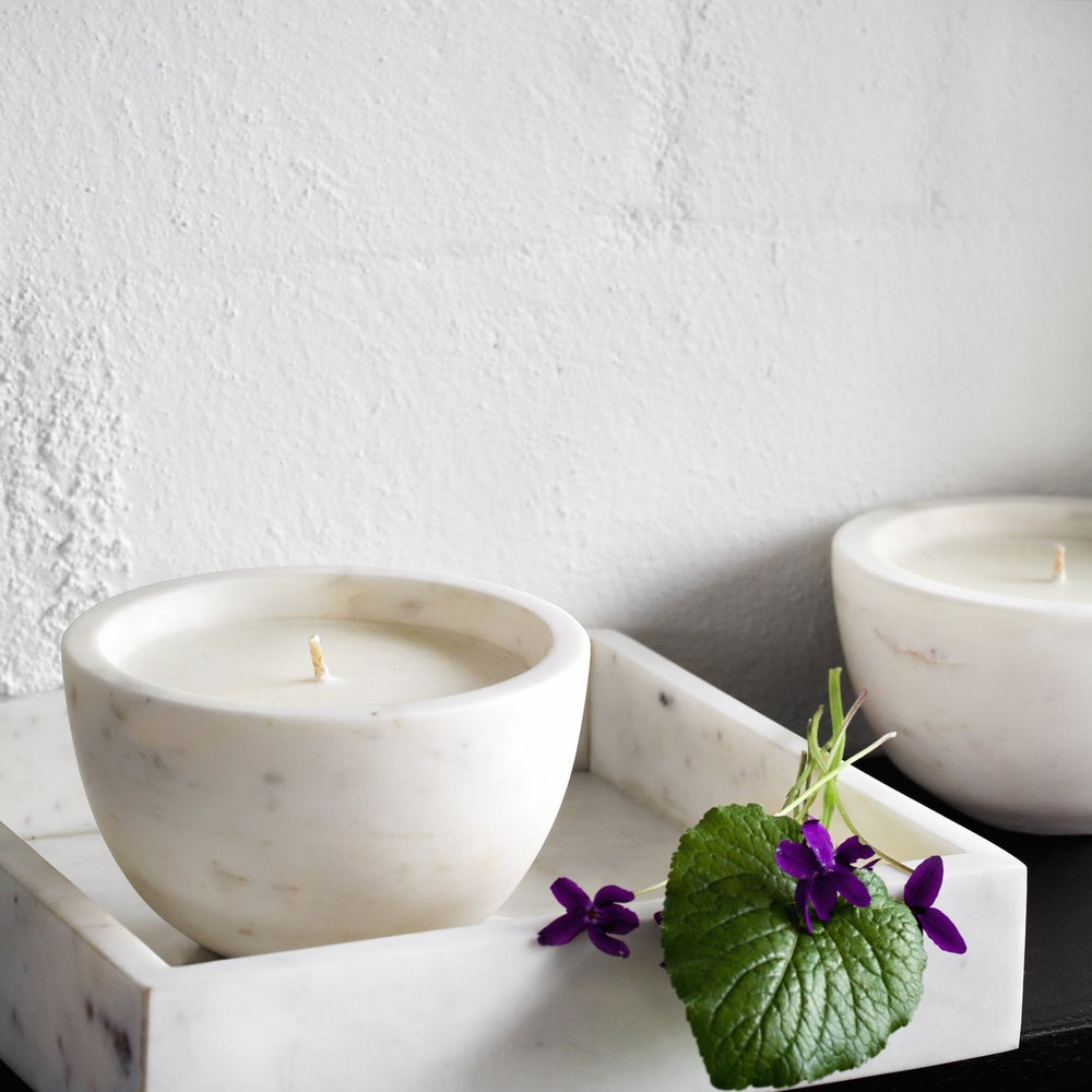 Image of Marble Candle bowl