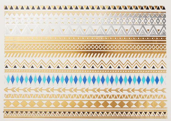 Image of Festival-Perfect Gold Foil Tattoo Set