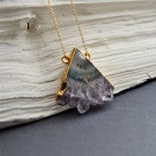 Image of Triamethyst - Geometric Amethyst Necklace