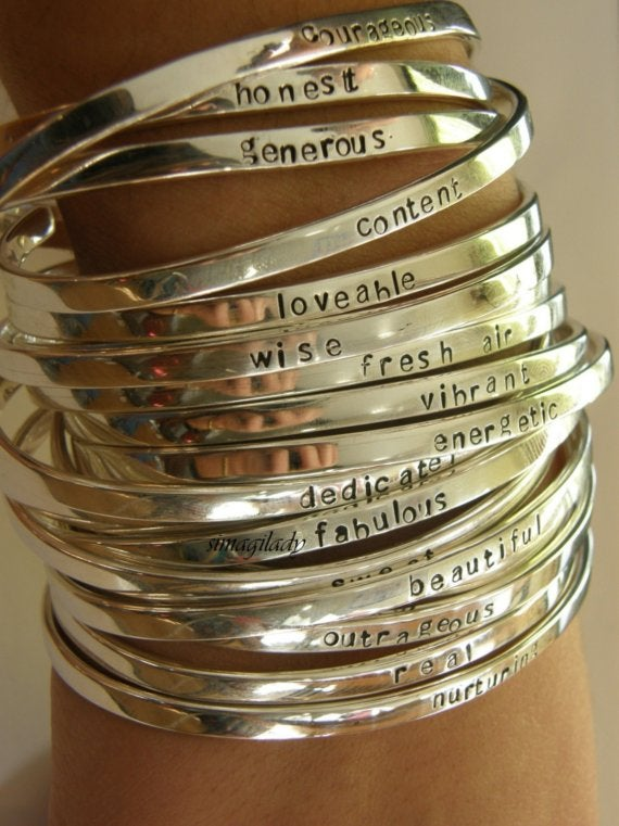 Say What You Want To Custom Cuff Bracelet Personalized Jewelry Simag