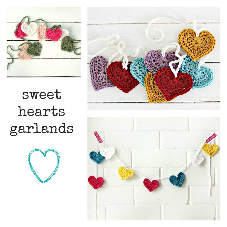 Image of sweet hearts | crochet garland