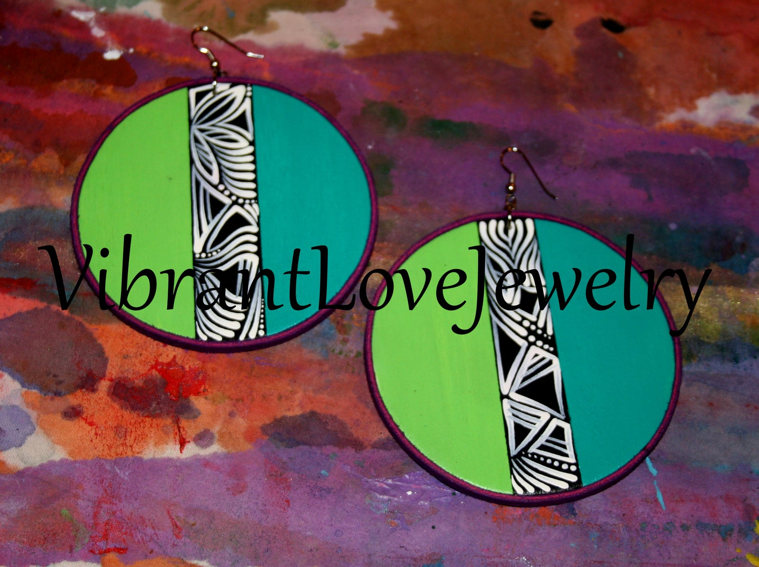 "Image of ""Middle Path II"" Earrings!"