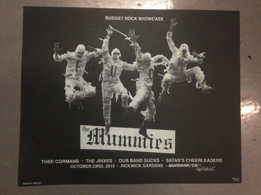 Image of Mummies Gig Poster