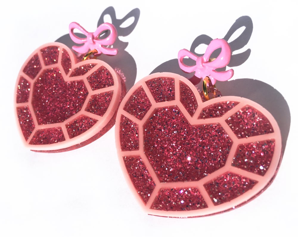 Image of Sparkle Heart earrings
