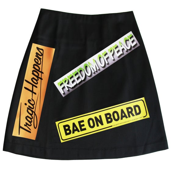Image of BUMPER STICKER Skirt - Black