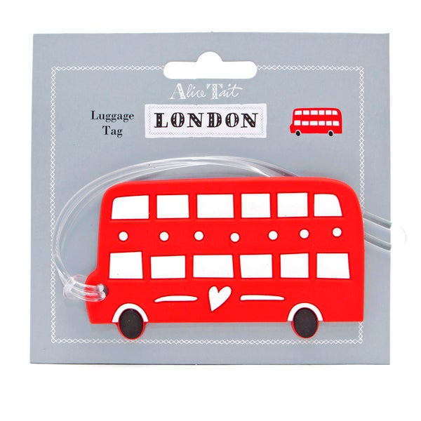 Alice Tait 'London Bus' Luggage Tag - Alice Tait Shop