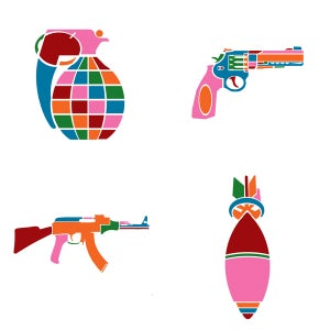 Image of Love Guns & other Weapons of Affection Greeting Card Pack