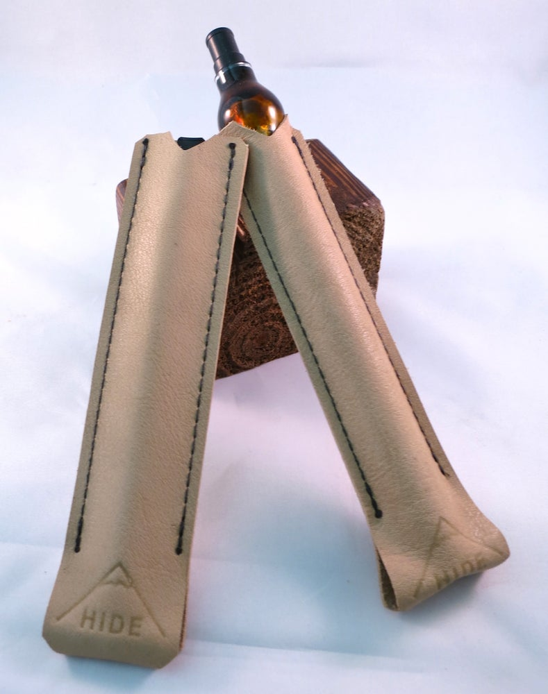 Image of Professional Hide Case - Natural Tan Leather Vape Pen Case
