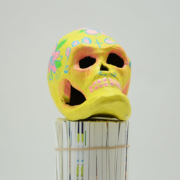 Image of Yellow Sugar Skull