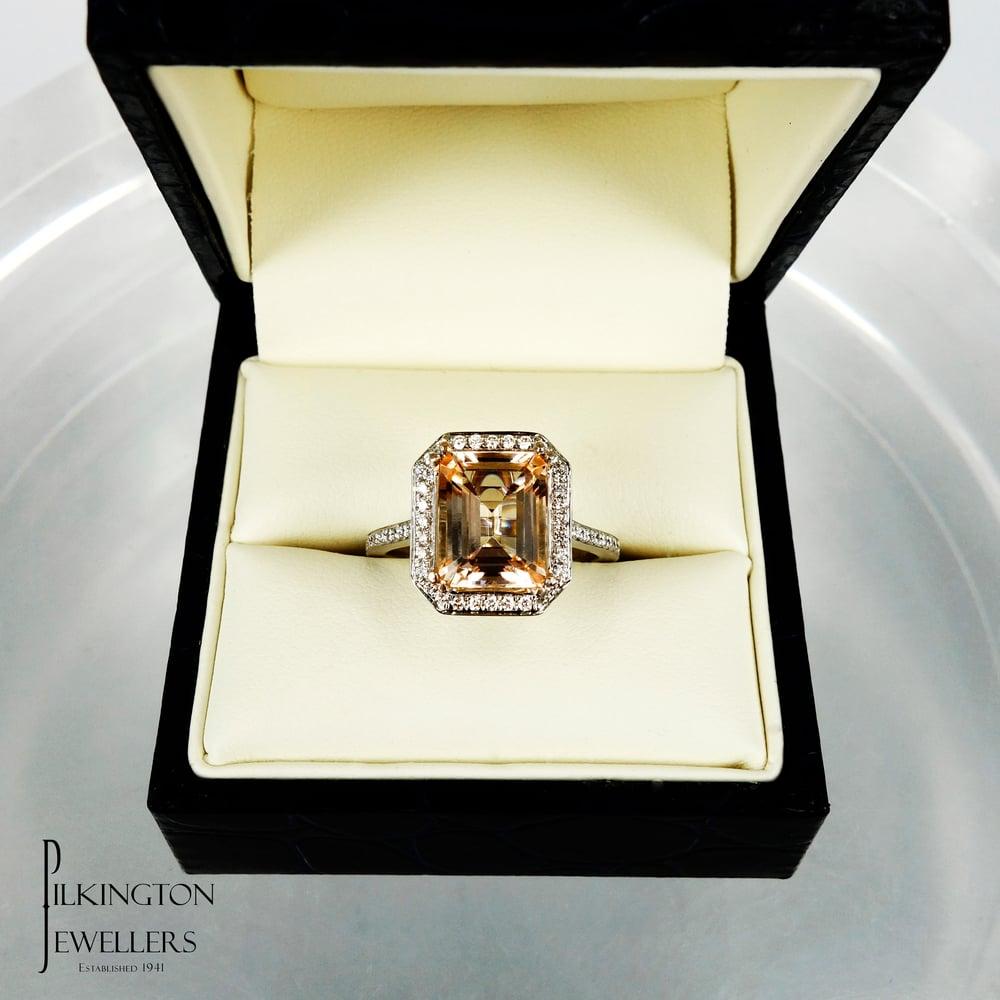 Image of PJ5141 Tourmaline & Diamond ring