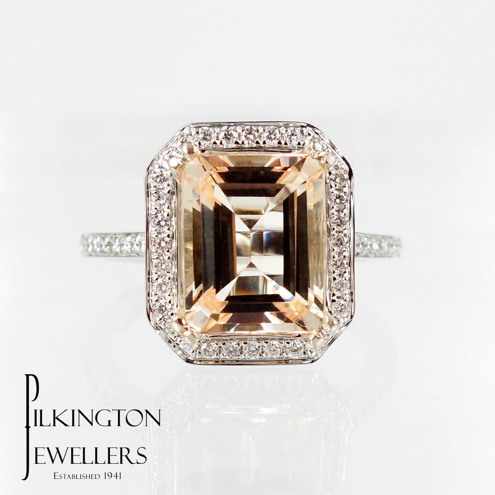 Image of PJ5141 Tourmaline & Diamond ring