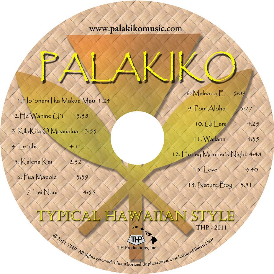 "Image of Palakiko Music "" Typical Hawaiian Style """
