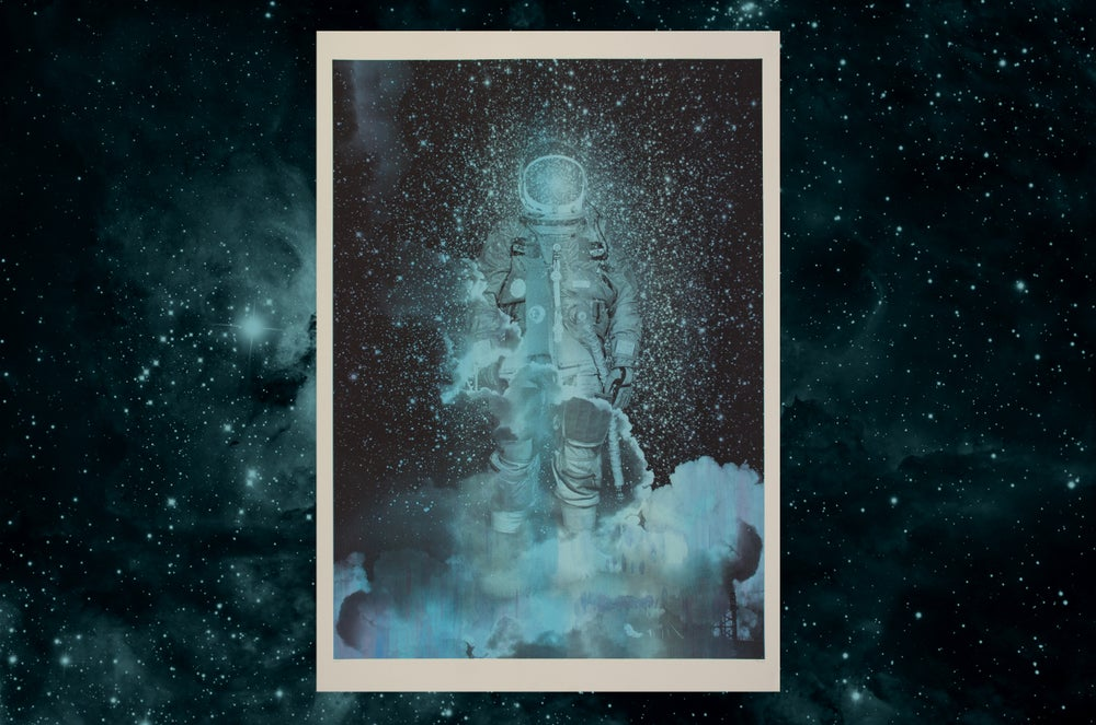 Spaceman / silkscreen poster
