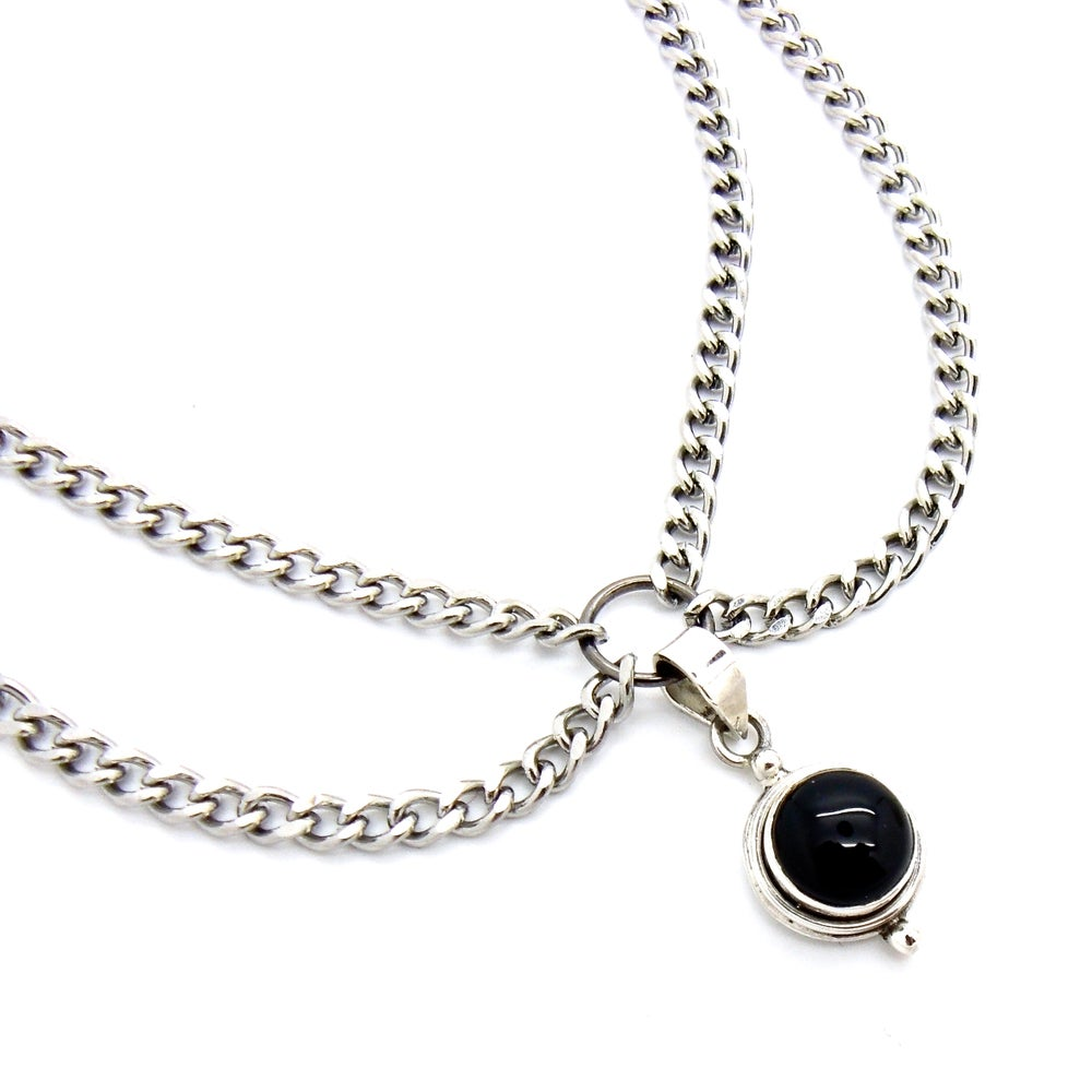 Image of Black Onyx Double Chain Choker