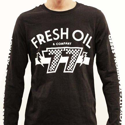 Image of RETRO 77 L/S TEE - BLACK