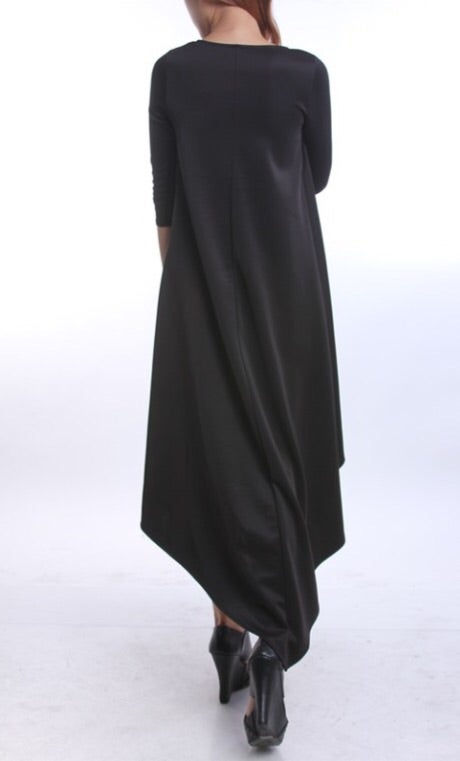 Image of Black High/Low Dress