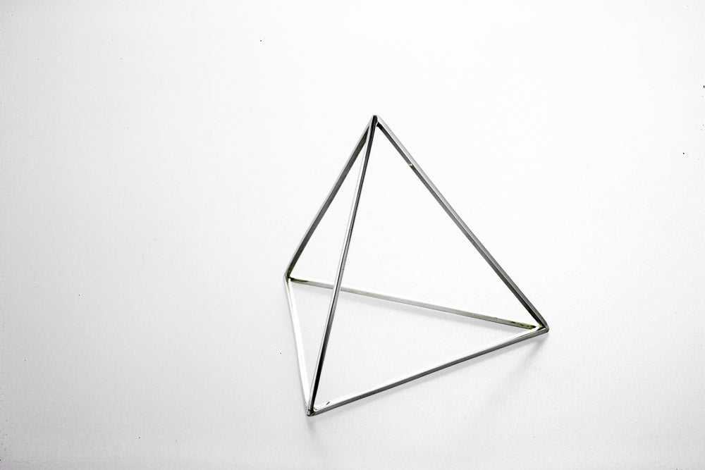 Image of Sterling Silver Pyramid Bracelet