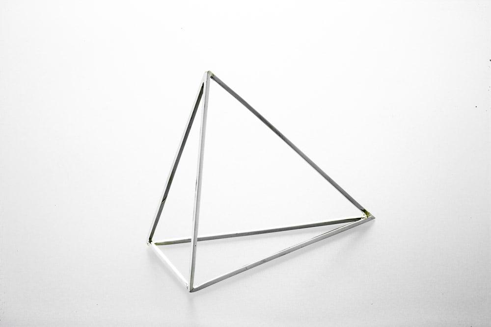 Image of Sterling Silver Oblong Pyramid Bracelet