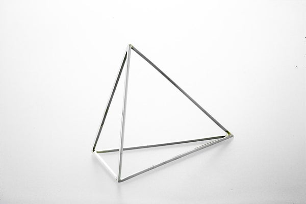 Image of Sterling Silver Oblong Pyramid Bracelet