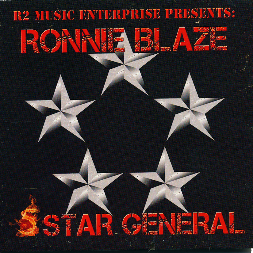 Image of Ronnie Blaze - 5 Star General CD (AUTOGRAPHED)