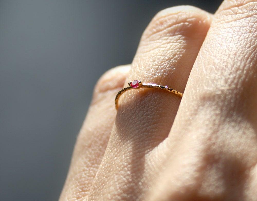 Image of PINK ZIRCONIA RING