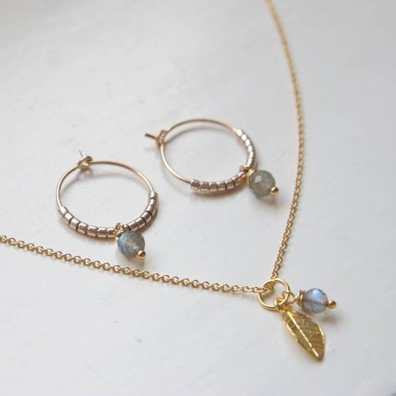 Image of Gold And Labradorite Jewellery Set