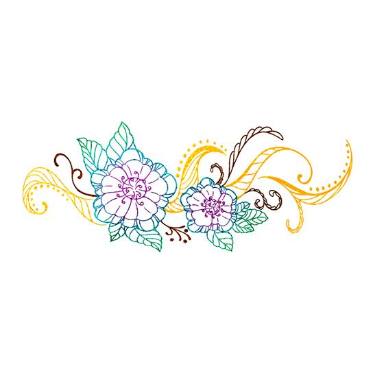 Image of High Femme Metallic Foil Flower Tattoo