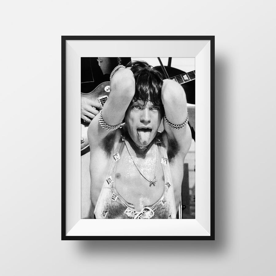 Image of Mick Jagger in concert - Melbourne 1973. Limited edition photograph of 400.