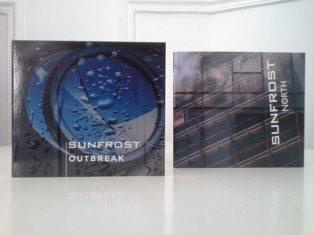 "Image of Package SUNFROST new CD ""OUTBREAK"" and first CD ""North"""