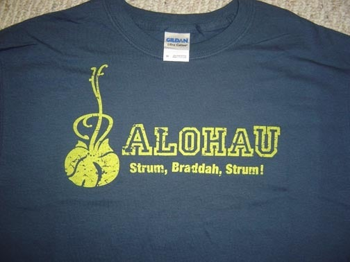 "Image of T-Shirt AlohaU ""Strum Braddah Strum"""