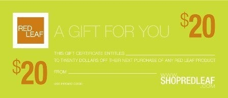 Image of Bath and Body Gift Certificates From Red Leaf