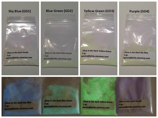 Image of Glow in the Dark Pigments <p> 13 Colors Available