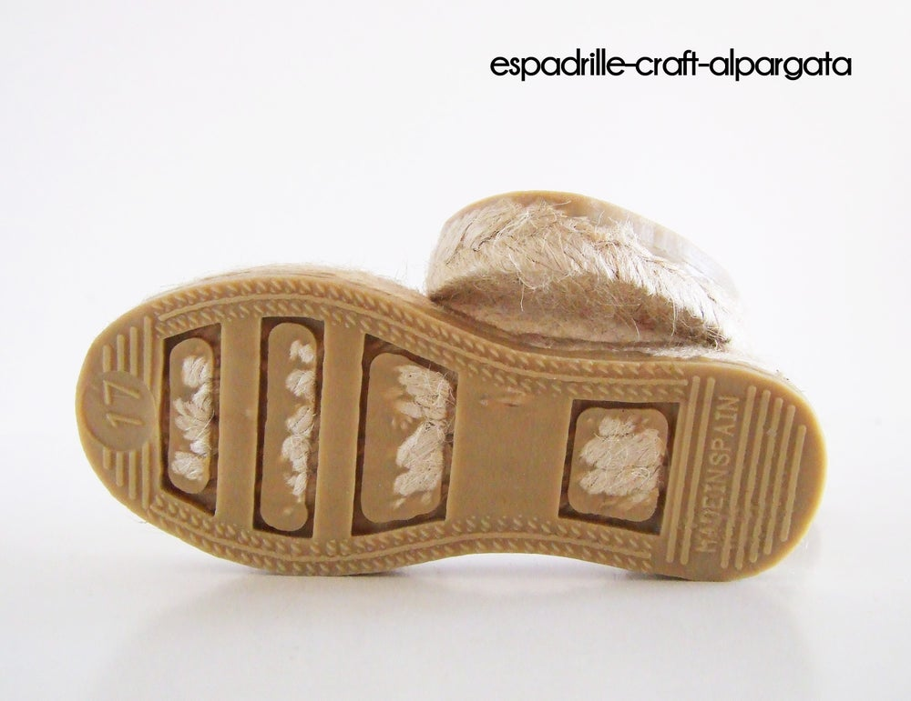 Image of espadrille soles kids 1 - EU sizes 17 to 34