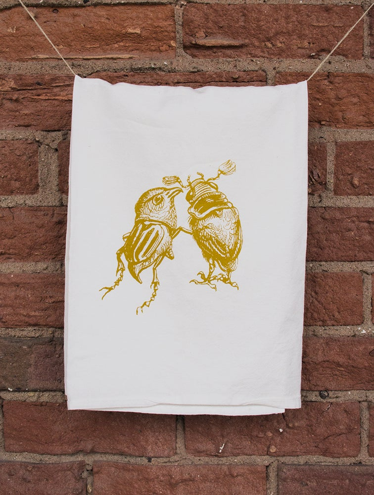 Image of Bird & Beetle Floursack Towel
