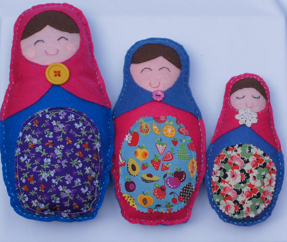 Image of 3 MATRYOSHKA DOLLS