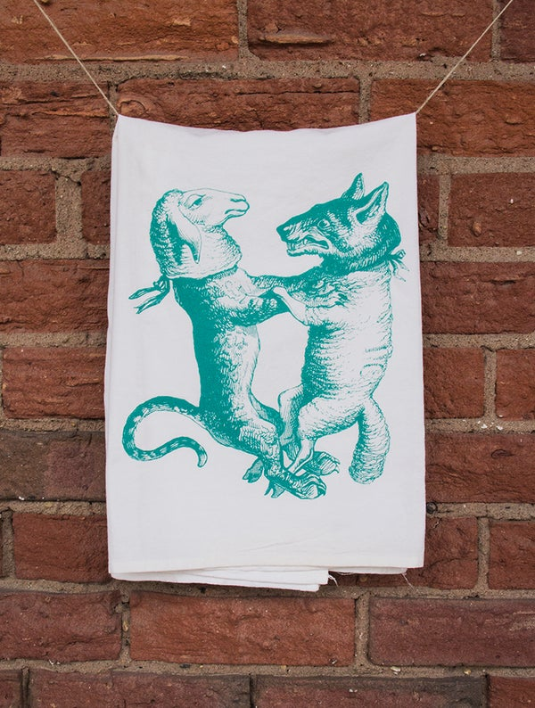 Image of Wolf and Lamb Floursack Towel