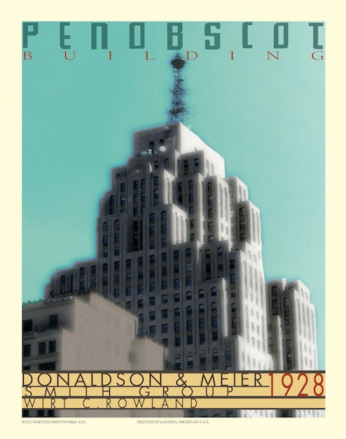 Image of Penobscot Building Print No. [023]