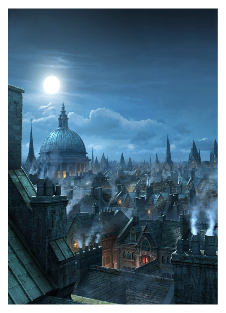 "Image of ""London Rooftops"" Limited Signed Edition 13x19""."