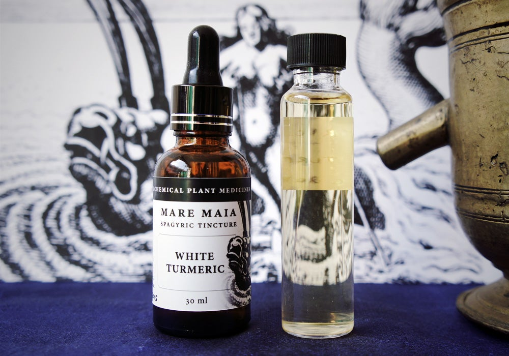 WHITE TURMERIC spagyric tincture - alchemically enhanced plant extraction