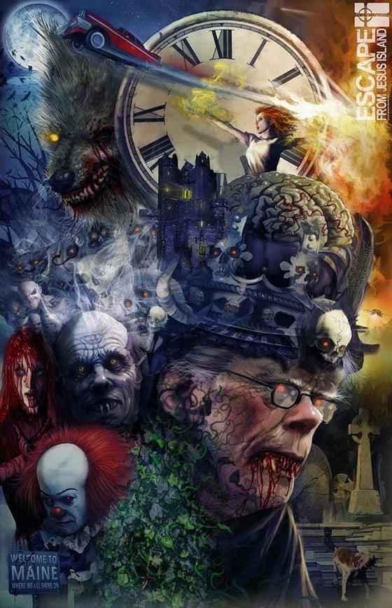 Image of Stephen King tribute print $10