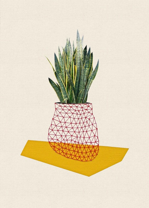"Image of Print of ""Home and plant/yellow"""