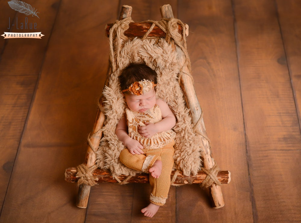 Image of woodsy wonders woodland adjustable nesting lounger rustic newborn photography prop